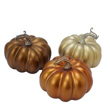 Small Metallic Pumpkins by Ashland