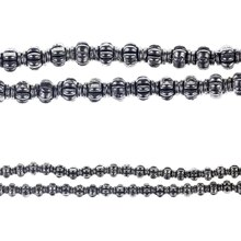 Bead Gallery Melon Metal Beads, Antique Silver