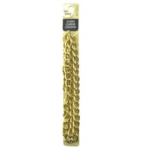 Gold Double Curb Rhodium Chain by Bead Landing