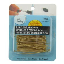 "2"" Gold Headpins Value Pack by Bead Landing"