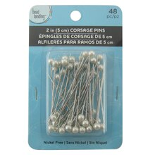 Silver Rhodium Corsage Pins by Bead Landing