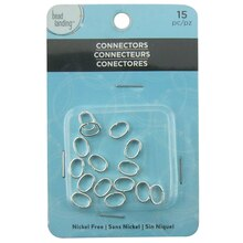 Silver Oval Link Ring Connectors by Bead Landing