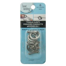 Antique Silver Beaded Edge Toggles by Bead Landing