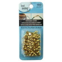 Gold Clamshell Crimp Bead Covers by Bead Landing