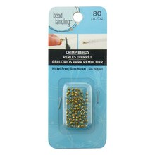 Gold Round Grooved Crimp Beads by Bead Landing, Medium