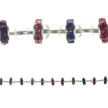 Bead Gallery Rhinestone Rondelle Beads, Purple & Pink