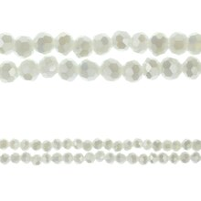 Bead Gallery Round Faceted Opaque Glass Beads, White