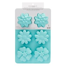 6-Cavity Assorted Flowers Silicone Treat Mold by Celebrate It