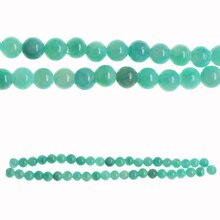 Bead Gallery Round Quartzite Beads, Aqua