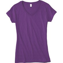 Gildan® Short Sleeve Missy V-Neck T-Shirt, medium