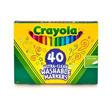 Crayola Ultra-Clean Washable Fine Line Markers Box