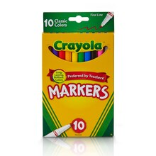 Crayola Fine Line Markers, Classic Colors