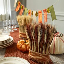 Fall Tablescape Ribbon Banner, medium