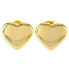 Elya Stainless Steel Gold Tone Heart Stud Earrings