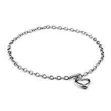 ELYA Stainless Steel Cable Chain Open Heart Necklace