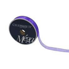 Mega Purple Sheer Ribbon by Celebrate It, 5/8""