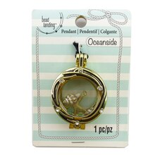 Oceanside Sea Locket Pendant by Bead Landing