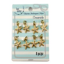 Oceanside Gold Starfish Charms by Bead Landing