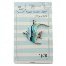 Oceanside Enamel Angelfish Pendant by Bead Landing
