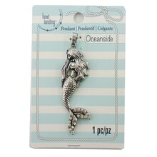 Oceanside Silver Mermaid Pendant by Bead Landing