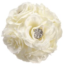 "5"" Rose Kissing Ball with Rhinestones"