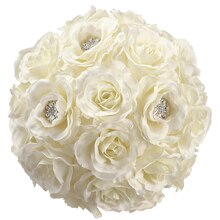 "8.5"" Rose Kissing Ball with Rhinestones"
