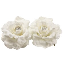 "5.5"" Floating Rose Flower Head with Rhinestones"