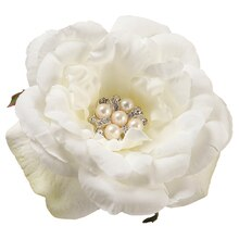 "4.3"" Rose Napkin Ring with Pearls"
