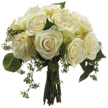 "11.5"" Rose Bundle, Cream"