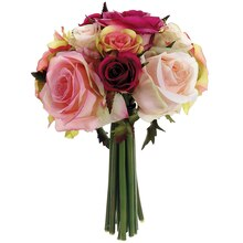 "9"" Confetti Rose Bundle, Fuchsia Pink"
