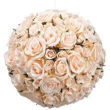 "12"" Rose Kissing Ball, Peach"