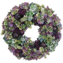 "18"" Hydrangea and Sedum Wreath"