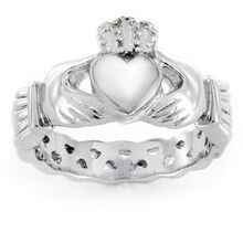ELYA Stainless Steel Women's Claddagh Ring, 7