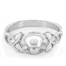 Stainless Steel Celtic Trinity Knot Claddagh Ring, 7