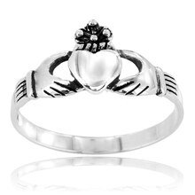 Sterling Silver Claddagh Ring, 8