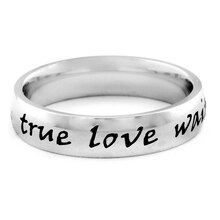 "ELYA Stainless Steel ""True Love Waits"" Ring, 6"