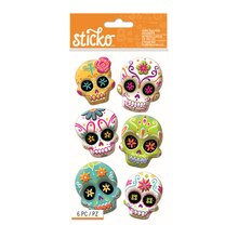 Sticko Sugar Skull Dimensional Stickers