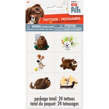 The Secret Life of Pets Tattoos, 24ct