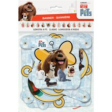 The Secret Life of Pets Birthday Banner, 6 Ft., Packaging