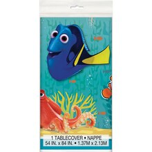 "Plastic Finding Dory Tablecloth, 84"" x 54"""