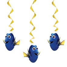 "26"" Hanging Finding Dory Decorations, 3ct"