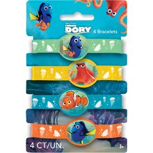 Finding Dory Rubber Bracelet Party Favors, 4ct