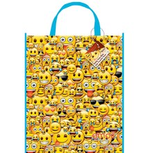 "Large Plastic Emoji Favor Bag, 13"" x 11"""