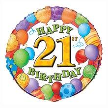 """Foil 21st Birthday Balloon, 18"""""""