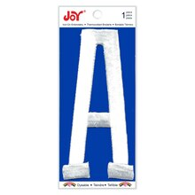 Joy Pro Varsity White Iron-On Embroidery Letter, A