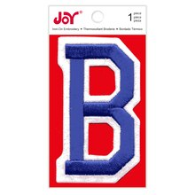 Joy Varsity Royal Blue Iron-On Embroidery Letter, B