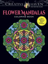 Creative Haven Flower Mandalas Coloring Book