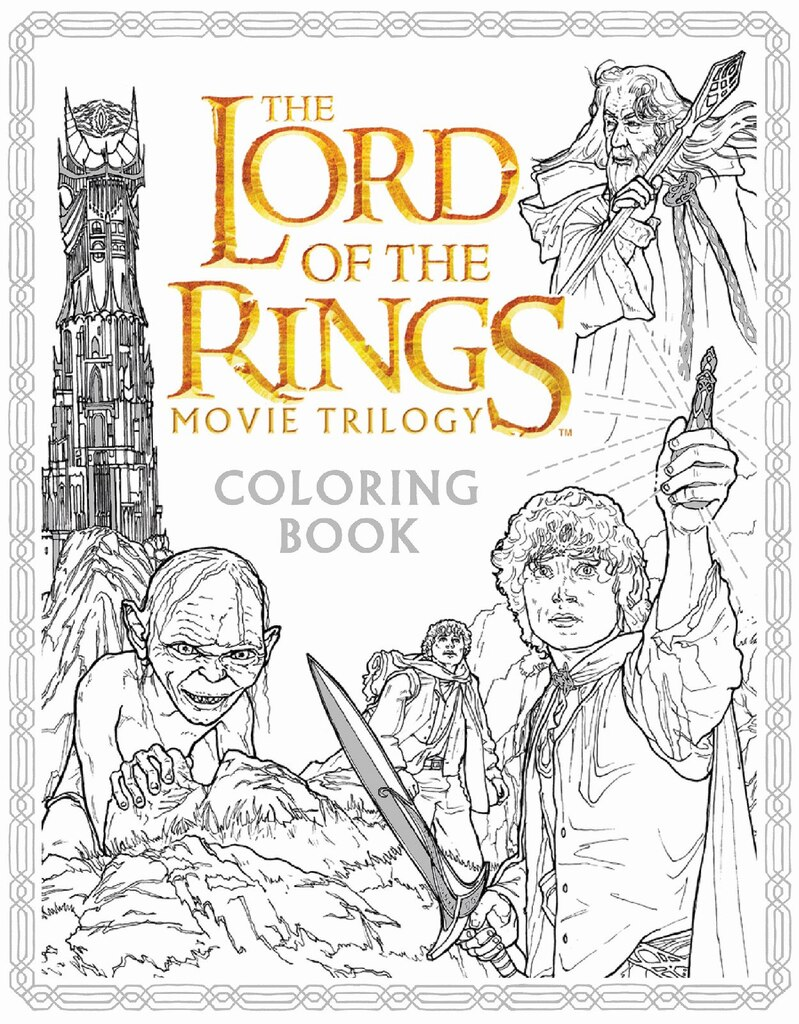 the lord of the rings movie trilogy coloring book - Coloring Books