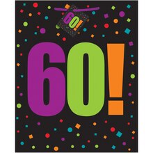 Large Birthday Cheer 60th Birthday Gift Bag
