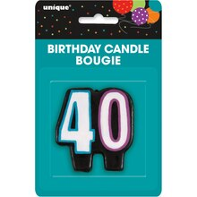 Birthday Cheer 40th Birthday Candle, Packaging